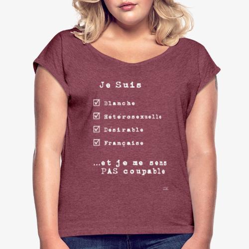 IDENTITAS Femme - T-shirt à manches retroussées Femme