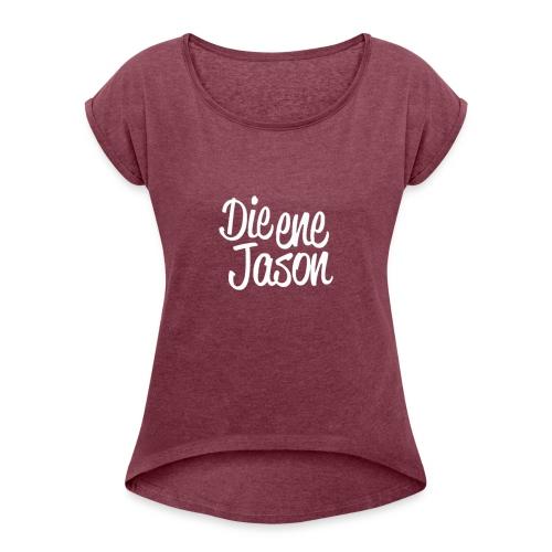 DieEneJason Vrouwen sweatshirt - Vrouwen T-shirt met opgerolde mouwen