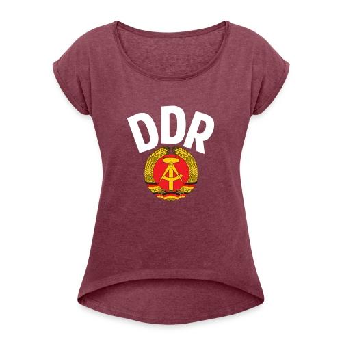 DDR - German Democratic Republic - Est Germany - Frauen T-Shirt mit gerollten Ärmeln