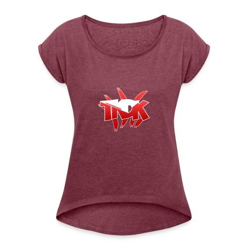 TKDK Teddy - Vrouwen T-shirt met opgerolde mouwen