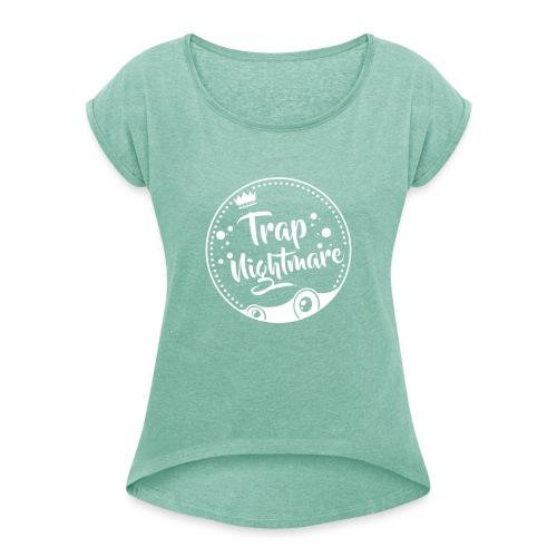 Logo Round - T-shirt à manches retroussées Femme