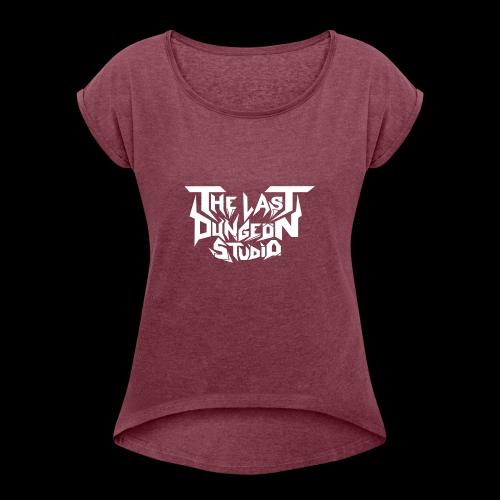TLDS LOGO - T-skjorte med rulleermer for kvinner