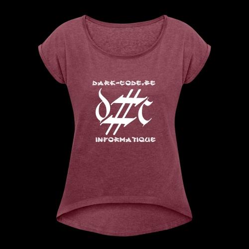 Dark-Code Gothic Logo - T-shirt à manches retroussées Femme