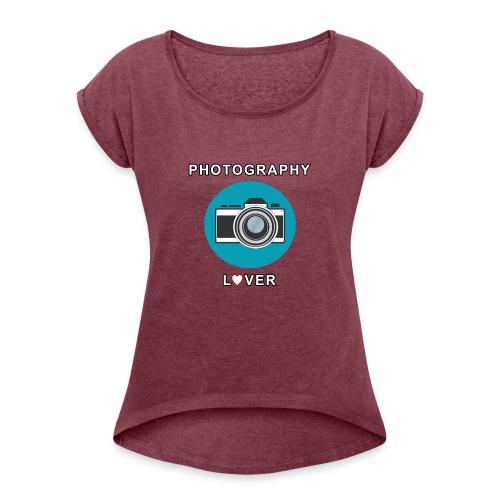 Photography Lover - Maglietta da donna con risvolti