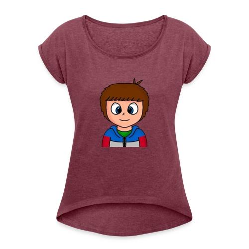 giofilms - Dame T-shirt med rulleærmer