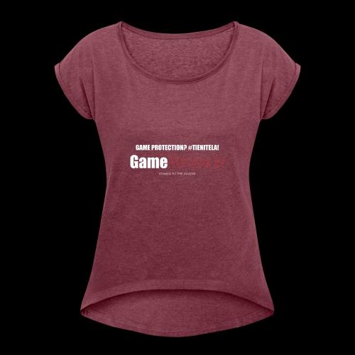 gameromancer maglietta gs - Maglietta da donna con risvolti