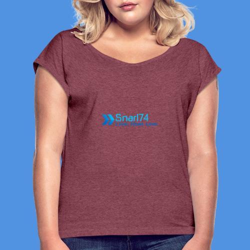 abstract sporty - Maglietta da donna con risvolti