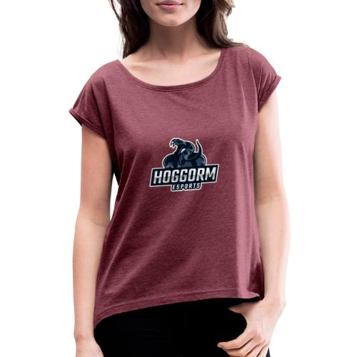 Hoggorm eSports logo - Women's T-Shirt with rolled up sleeves