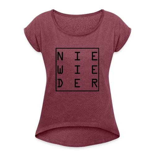 WORTKunstwort 21.2 - Frauen T-Shirt mit gerollten Ärmeln