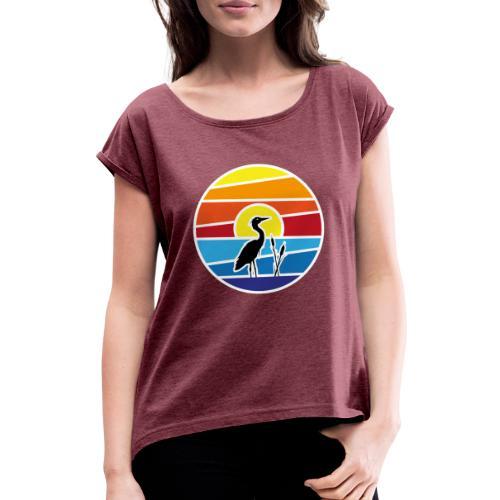 Schee-Fest 2021 - nur Logo - Frauen T-Shirt mit gerollten Ärmeln