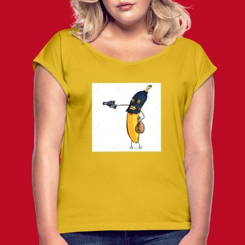 RøverBananen - Dame T-shirt med rulleærmer