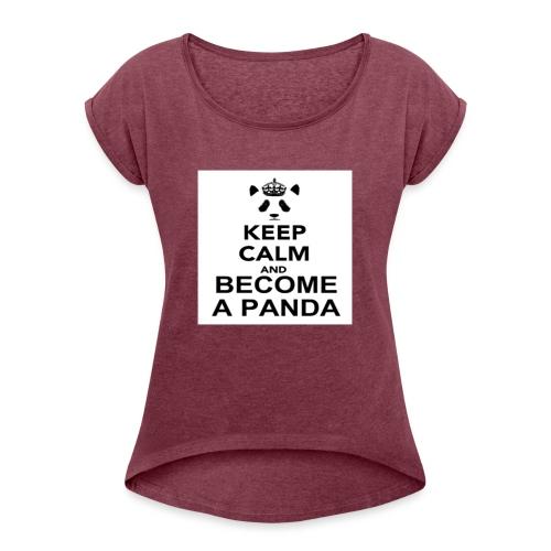 Vær En Panda - Dame T-shirt med rulleærmer