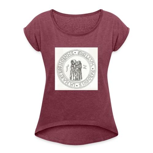 Herzhorn Siegel von 1552 - Frauen T-Shirt mit gerollten Ärmeln