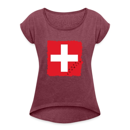 Schweiz 21.1 - Frauen T-Shirt mit gerollten Ärmeln