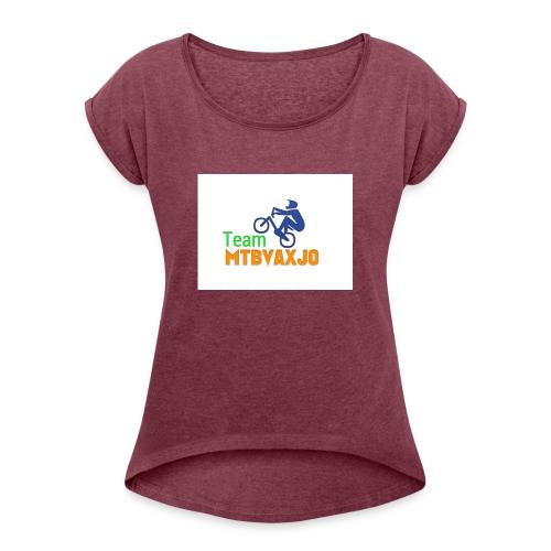 mtbvaxjo - T-shirt med upprullade ärmar dam