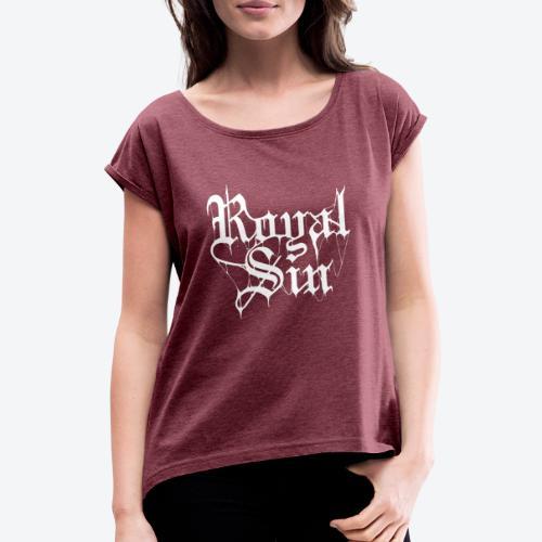 Royal Sin | RS2W - T-shirt med upprullade ärmar dam