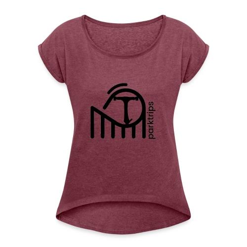 Klug - T-shirt à manches retroussées Femme