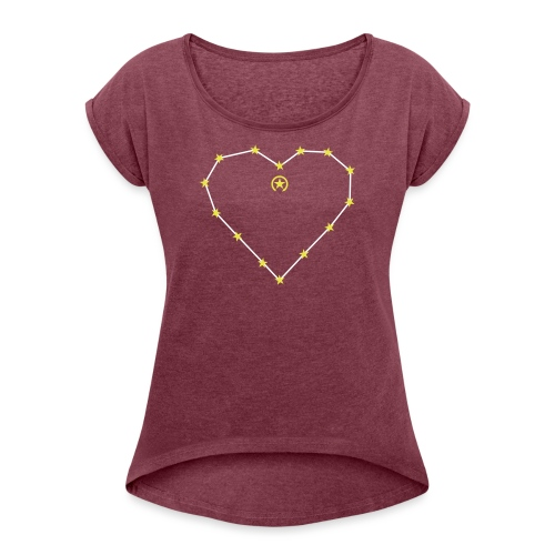 Herz 0HE01 - Women's T-Shirt with rolled up sleeves