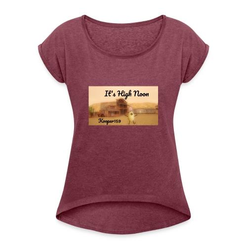 Potato Aim Kooper159 - Frauen T-Shirt mit gerollten Ärmeln