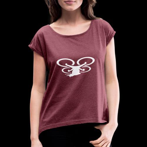 Einseitig bedruckt - Frauen T-Shirt mit gerollten Ärmeln