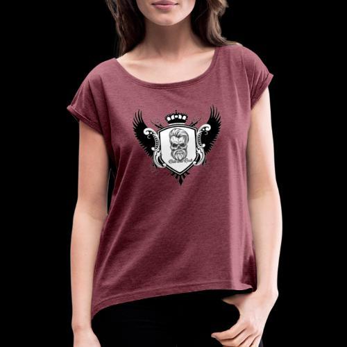 Ride and Rock Wings - Frauen T-Shirt mit gerollten Ärmeln