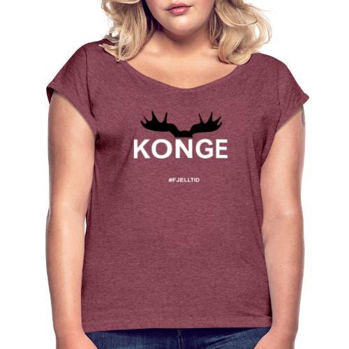 Konge - T-skjorte med rulleermer for kvinner