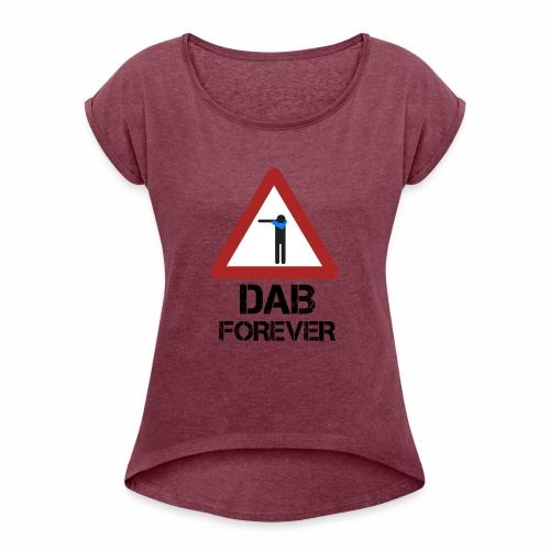 Dab Forever Red - Maglietta da donna con risvolti