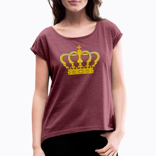 Golden crown - Women's T-Shirt with rolled up sleeves