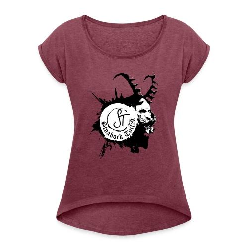 Stoabock Toifen - Frauen T-Shirt mit gerollten Ärmeln
