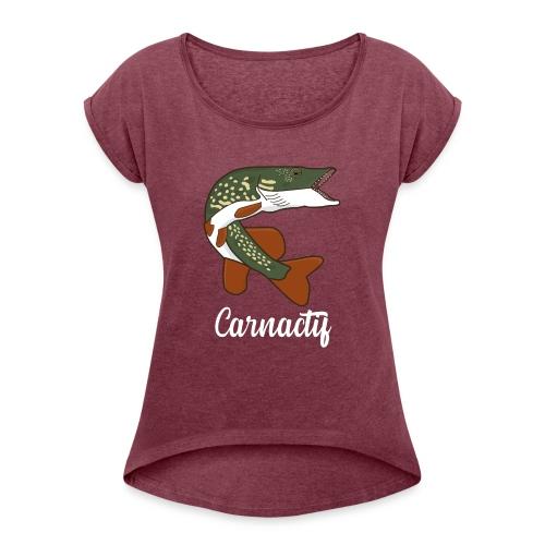 brochet carnactif - T-shirt à manches retroussées Femme