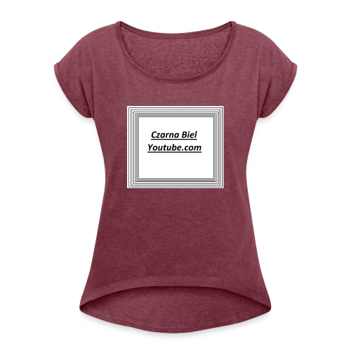 yt_cb - Koszulka damska z lekko podwiniętymi rękawami