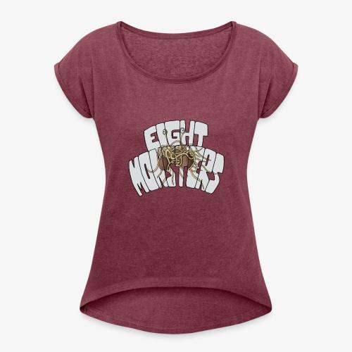Eight Monsters - T-shirt à manches retroussées Femme