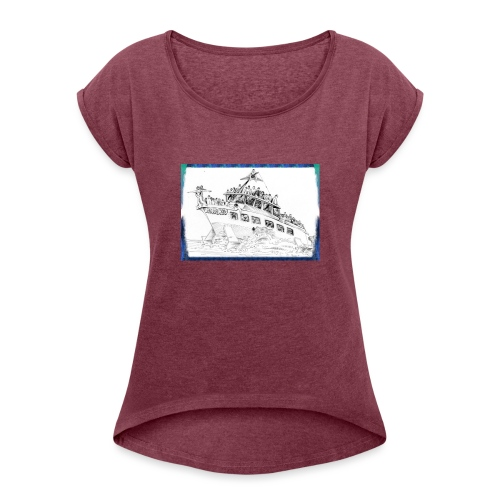 Aliscafo Eolie by fuoricronaca - Maglietta da donna con risvolti
