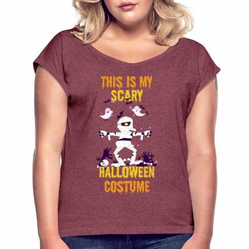 Scary Halloween Costume - Women's T-Shirt with rolled up sleeves