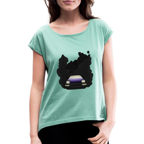 Japanese Drift Machine - Women's T-Shirt with rolled up sleeves