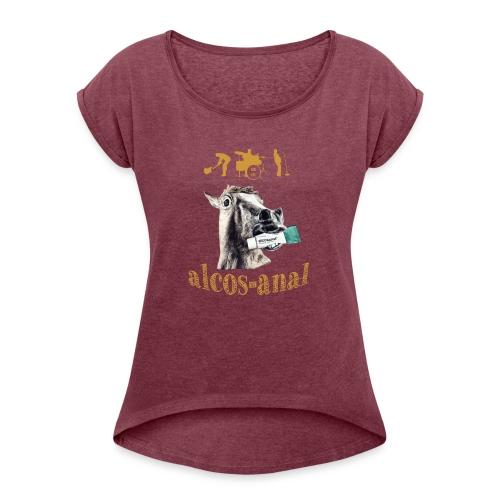 alc - T-skjorte med rulleermer for kvinner