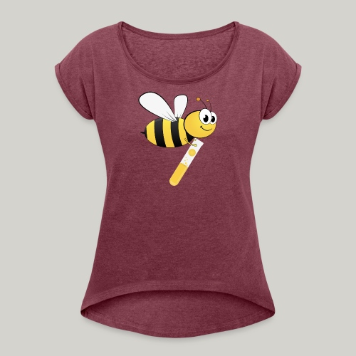 iLabee - Women's T-Shirt with rolled up sleeves