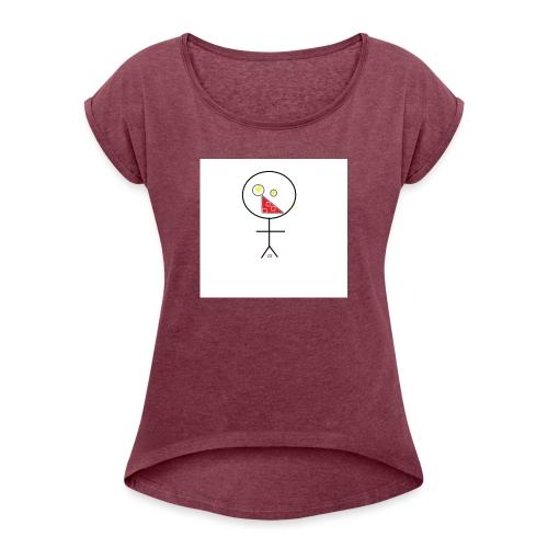 strekmann - T-skjorte med rulleermer for kvinner