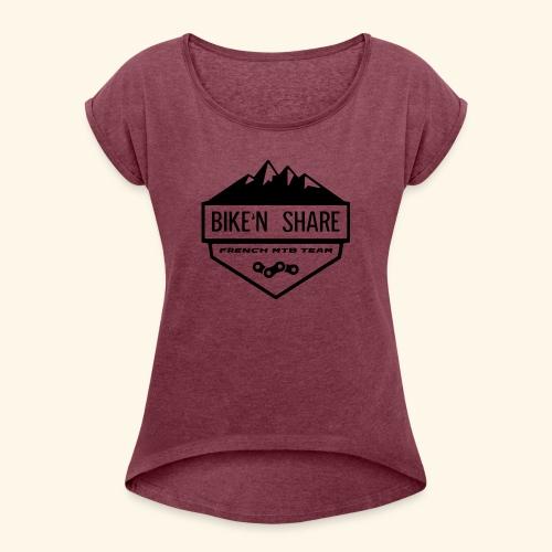 Logo BNS - T-shirt à manches retroussées Femme