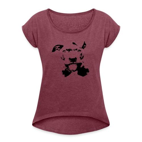 bluline merch - Frauen T-Shirt mit gerollten Ärmeln