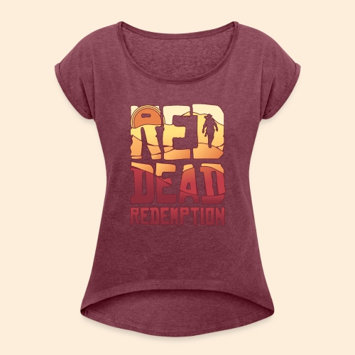 Red dead redemtion Sunset - Camiseta con manga enrollada mujer