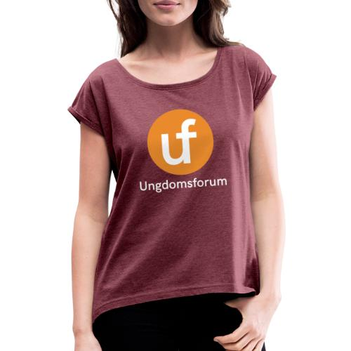 UF logo - T-skjorte med rulleermer for kvinner