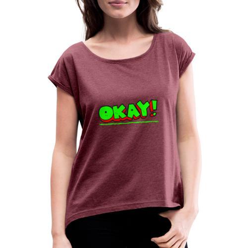 Okay - T-shirt à manches retroussées Femme