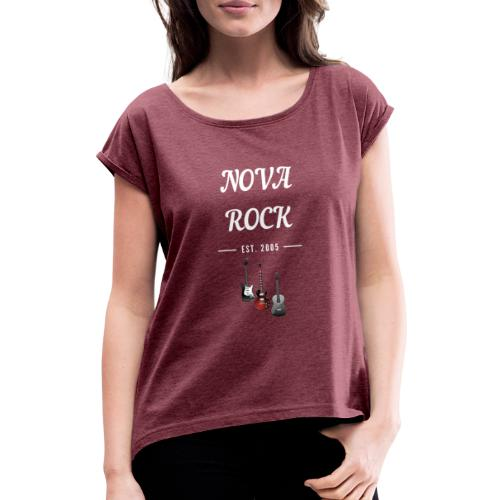 NovaRock Austria - Frauen T-Shirt mit gerollten Ärmeln