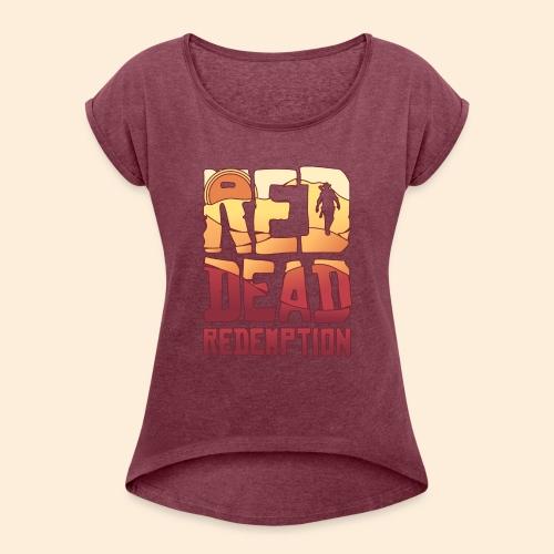 Red dead redemtion Sunset - Camiseta con manga enrollada mujer