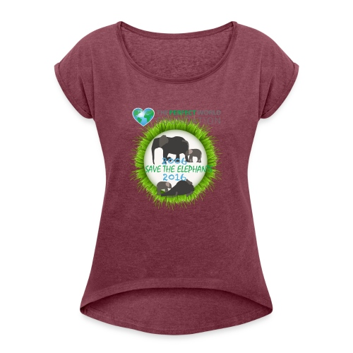 Save the elephant - Erik - T-shirt med upprullade ärmar dam