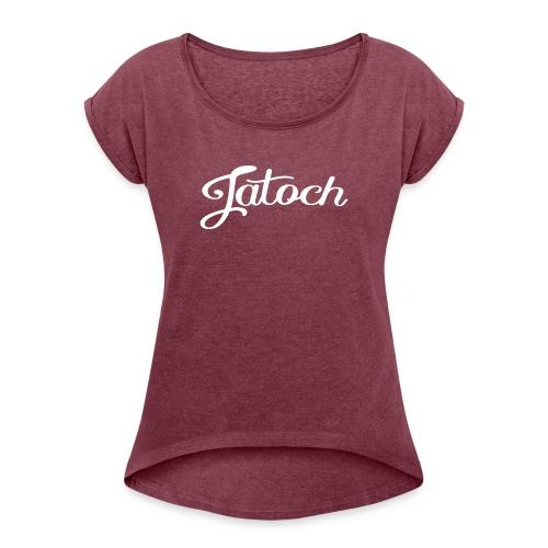 Jatoch - Vrouwen T-shirt met opgerolde mouwen