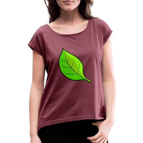 Natuur - Vrouwen T-shirt met opgerolde mouwen
