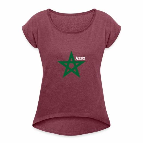 star marocaine - T-shirt à manches retroussées Femme