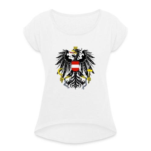 PicsArt 02 26 08 08 03 - Frauen T-Shirt mit gerollten Ärmeln